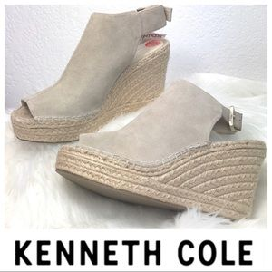 BRAND NEW KENNETH COLE Odette Leather Wedge SHOES